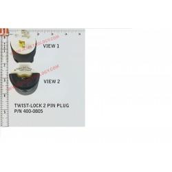 PLUG, TWIST-LOCK 2 PIN