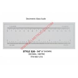 "14"" GLASS SCALE, DECI/METRIC"