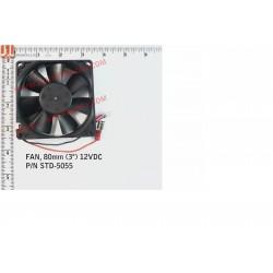 """FAN, 80mm (3"""") 12VDC"""