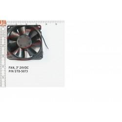 """FAN, 80mm (3"""") 24VDC"""